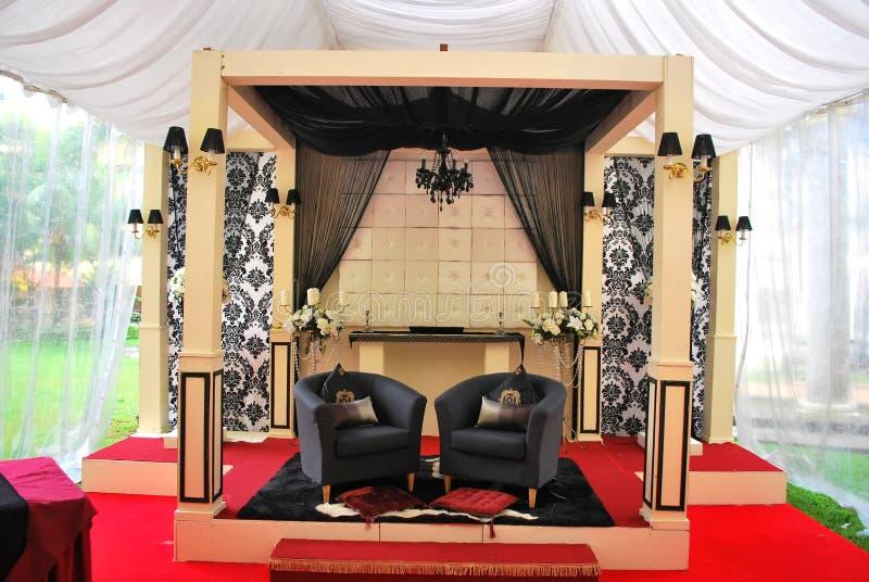 Traditionelle malaysische Hochzeit stockfotos