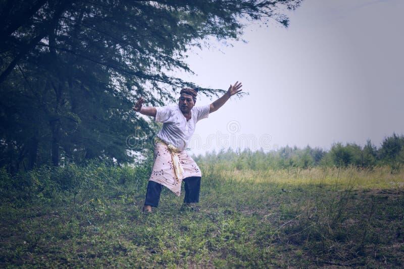 Traditionelle malaysische Kampfkunst lizenzfreie stockfotografie