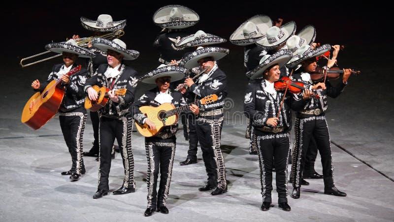Traditionelle Mariachimusikband, Mexiko stockbilder