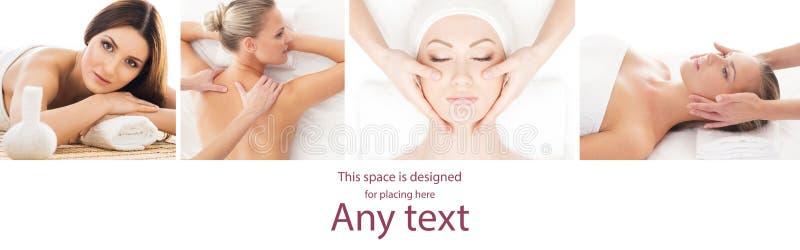 Traditionelle Massage- und Gesundheitswesenbehandlung im Badekurort Junge, schöne und gesunde Mädchen, die Erholungstherapie habe lizenzfreies stockfoto