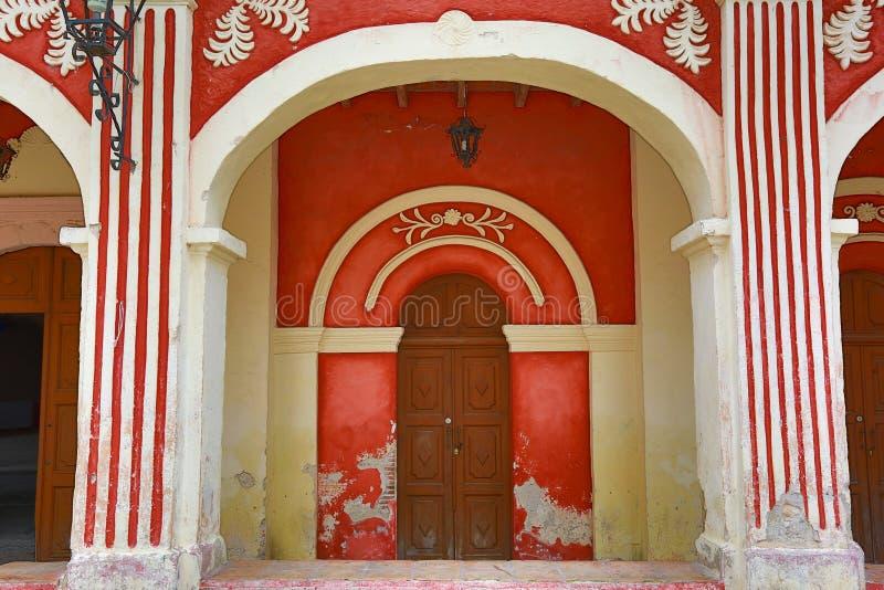 Traditionelle mexikanische Architektur lizenzfreies stockbild