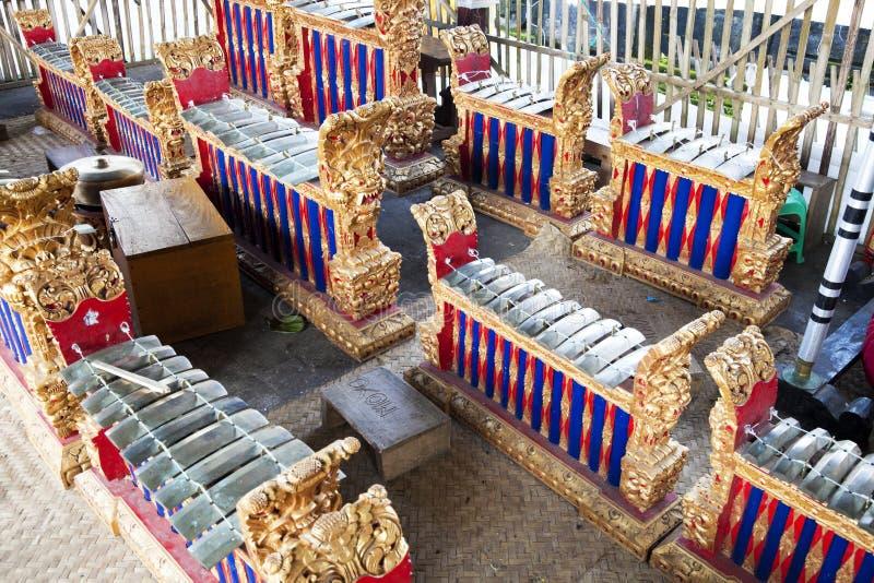 Traditionelle Musikinstrumente, Bali, Indonesien lizenzfreies stockfoto