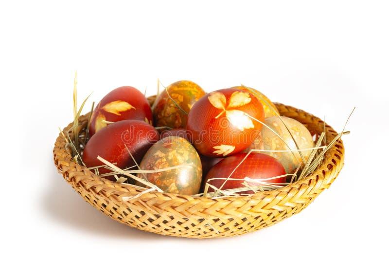 Traditionelle Ostern gemalte Eier lizenzfreie stockfotografie