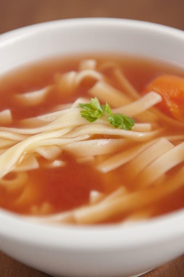 Traditionelle polnische Tomate-Suppe stockbilder