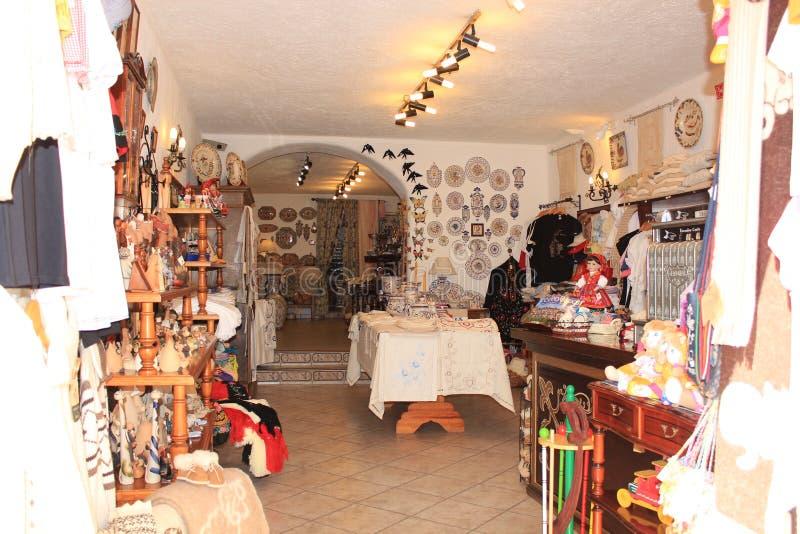 Traditionelle portugiesische Andenken verkauft in Obidos Obidos Dorf Portugal lizenzfreie stockfotografie