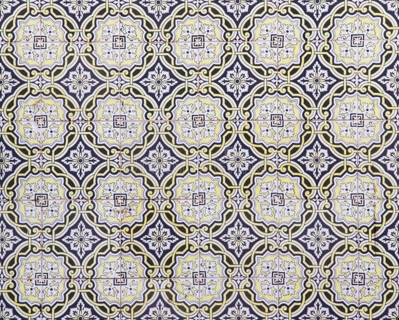 Traditionelle portugiesische Keramikfliesen, Muster lizenzfreie stockfotos