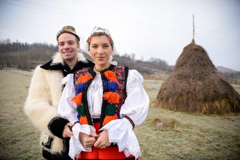 Traditionelle rumänische Kostüme lizenzfreies stockbild