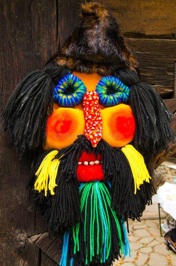 Traditionelle rumänische Maske lizenzfreies stockbild