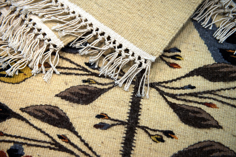 Traditionelle rumänische Teppiche lizenzfreies stockbild