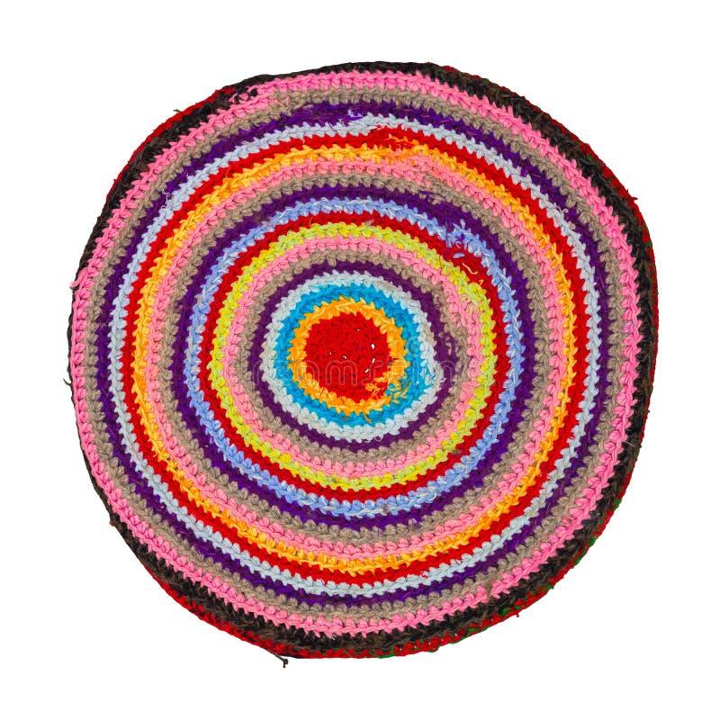 Traditionelle russische runde Knit Matte handgemacht lizenzfreie stockfotos