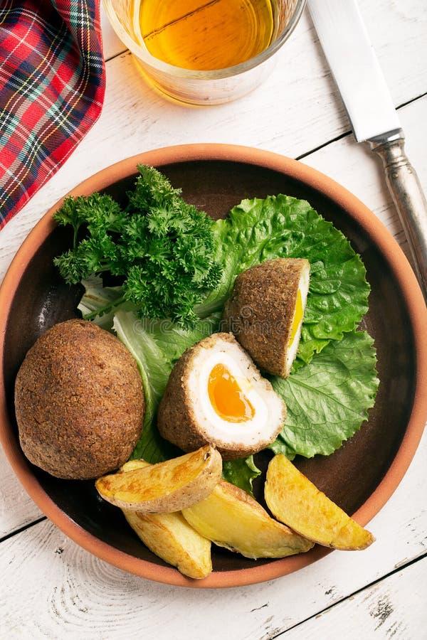 Traditionelle schottische Eier lizenzfreie stockfotografie