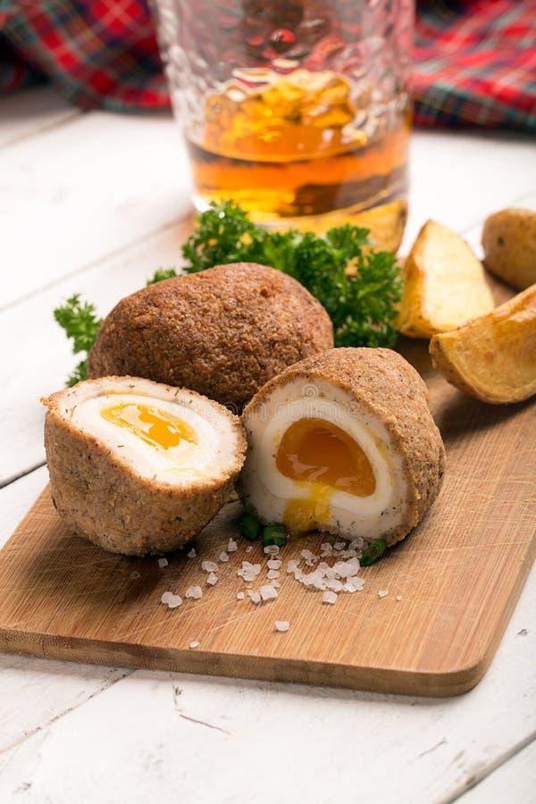 Traditionelle schottische Eier stockfoto