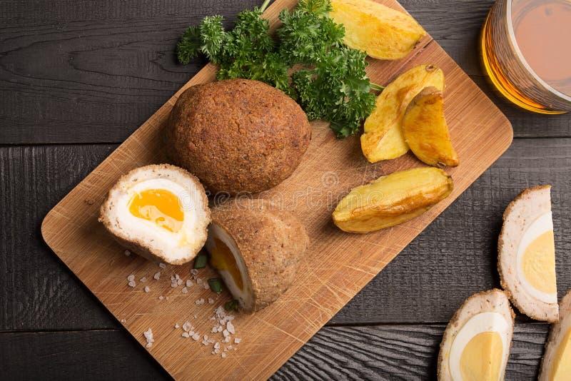 Traditionelle schottische Eier stockbild