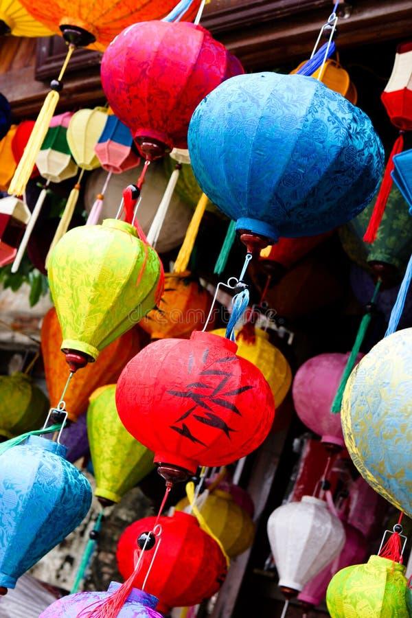 Traditionelle silk Laternen lizenzfreies stockfoto