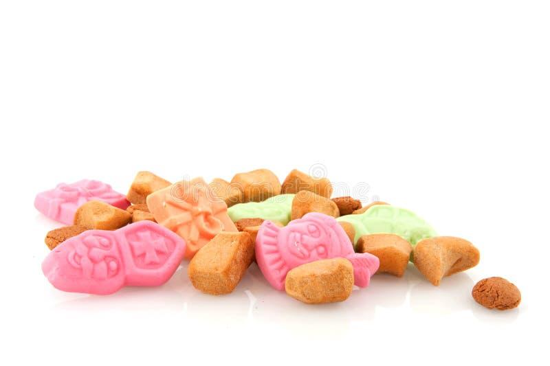 Traditionelle Sinterklaas Süßigkeit stockfotografie