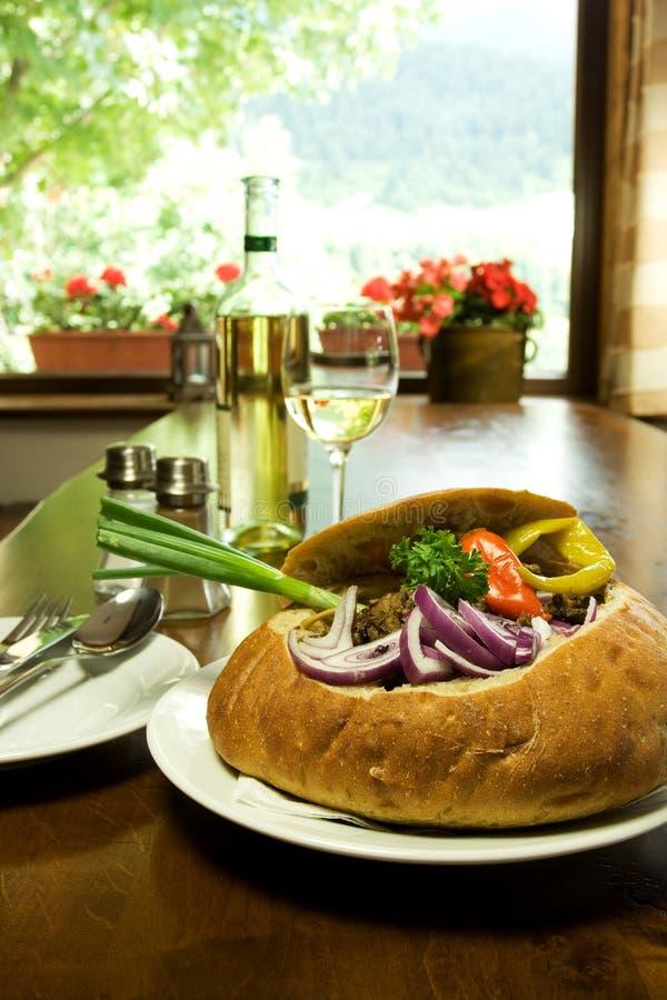 Traditionelle slowakische Gaststätte lizenzfreies stockbild