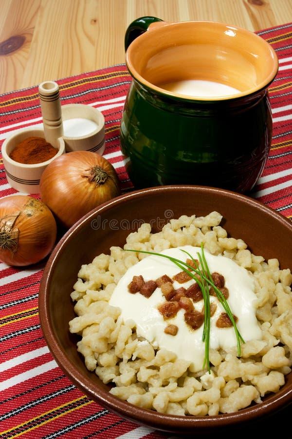 Traditionelle slowakische Nahrung lizenzfreies stockfoto