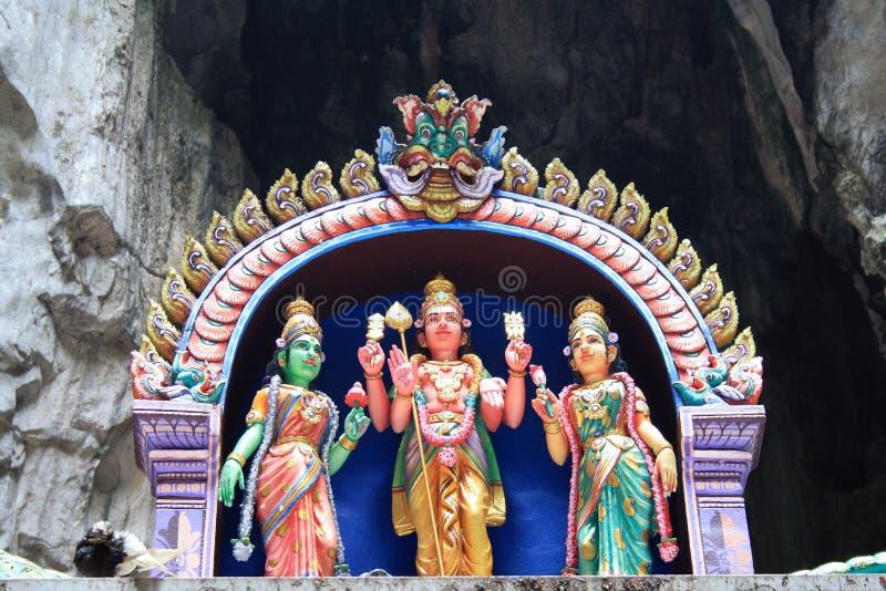 Traditionelle Statuen des hindischen Gottes in Batu höhlen, Kuala Lumpur, Malaysia aus lizenzfreie stockfotografie