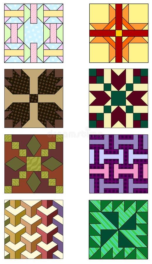 Traditionelle steppende Muster stock abbildung