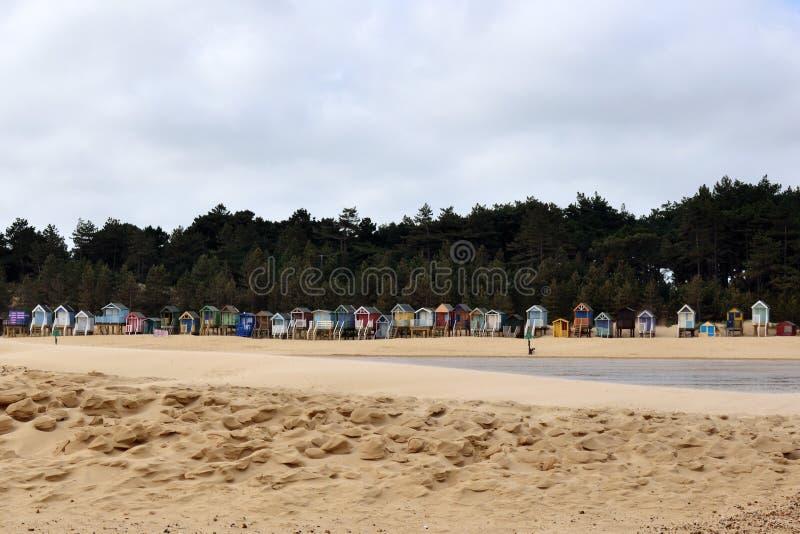 Traditionelle Strand-Hütten lizenzfreie stockbilder