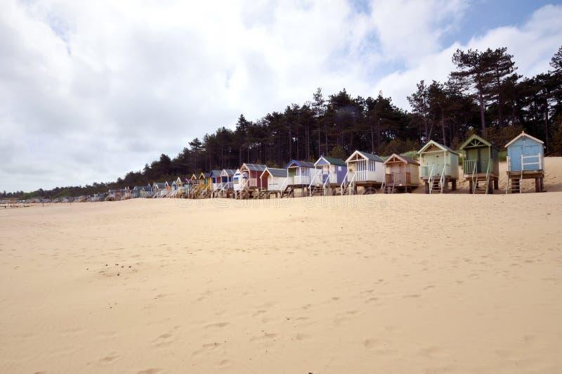 Traditionelle Strand-Hütten stockfoto
