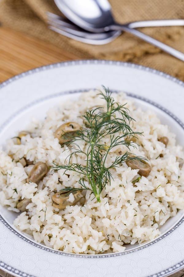 Traditionelle t?rkische Nahrungsmittel; Gem?sereis Baklali Pilav lizenzfreie stockfotos