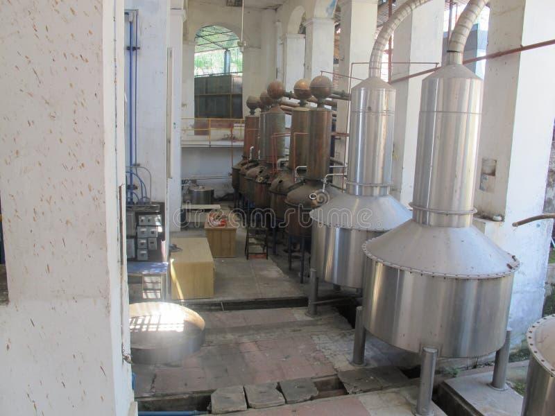 Traditionelle Tequilafabrik auf Mexiko lizenzfreie stockbilder