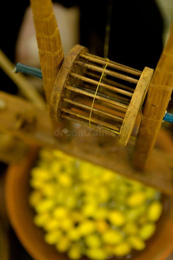 Traditionelle thailändische silk Spule lizenzfreies stockfoto