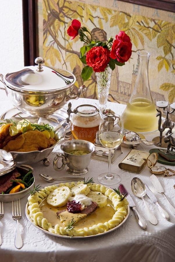 Traditionelle tschechische Küche lizenzfreies stockbild