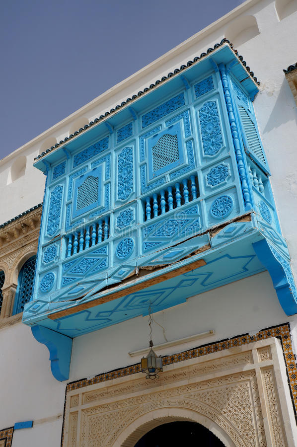 Traditionelle tunesische Architektur stockbild