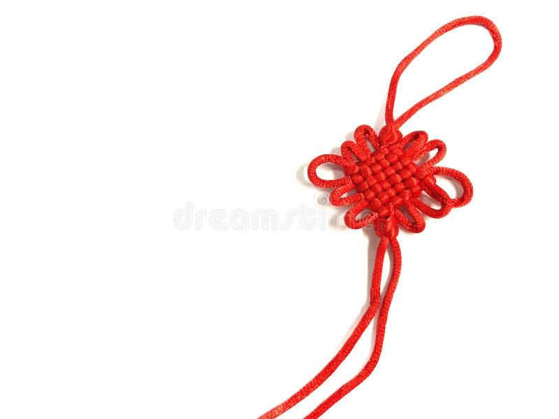 Traditionelle Verzierung des chinesischen Knotens bedeutet gutes Glück stockfotografie