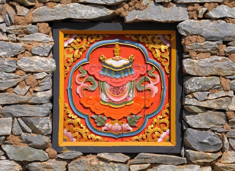 Traditionelle von Bhutan Art Kunst lizenzfreies stockbild