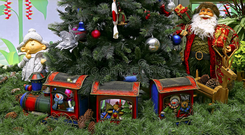 Traditionelle Weihnachtsdekorationen stockbilder