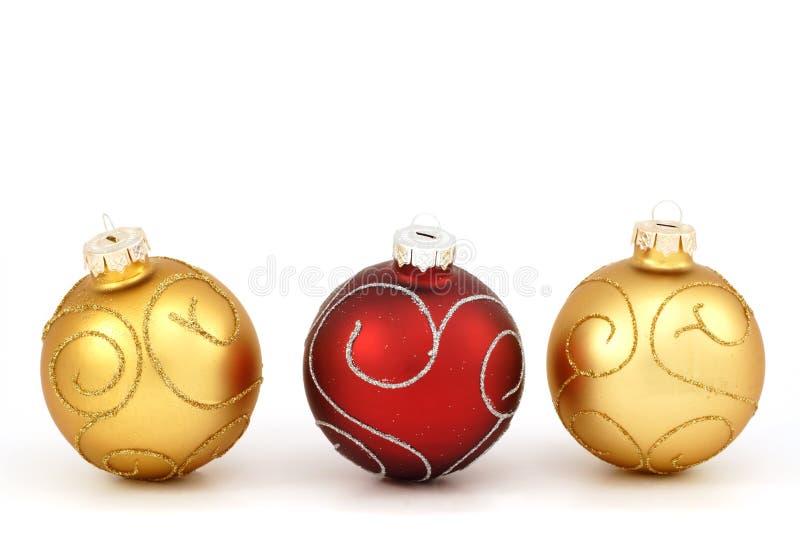 Traditionelle Weihnachtskugeln stockfotografie
