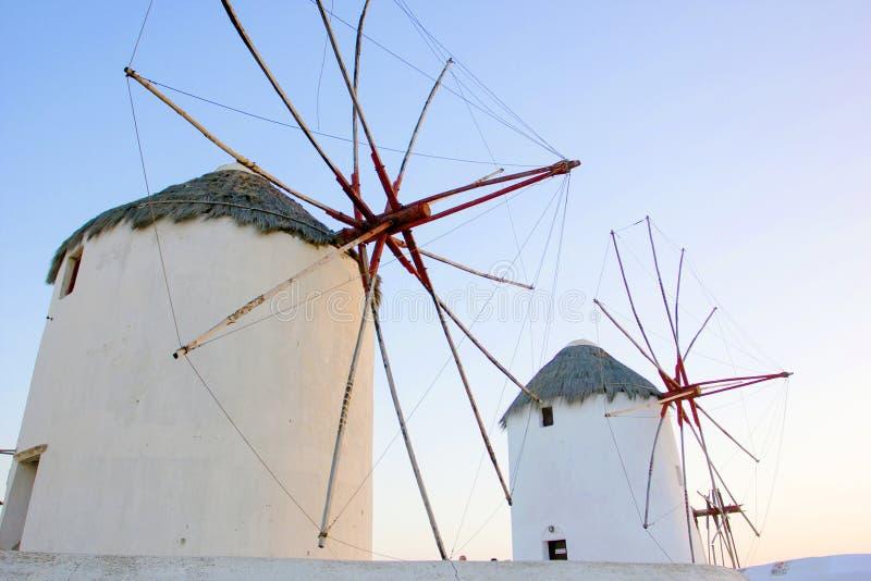 Traditionelle Windmühle in Mykonos lizenzfreie stockfotos