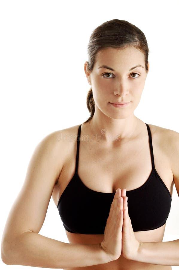 Traditionelle Yogahaltung lizenzfreies stockfoto