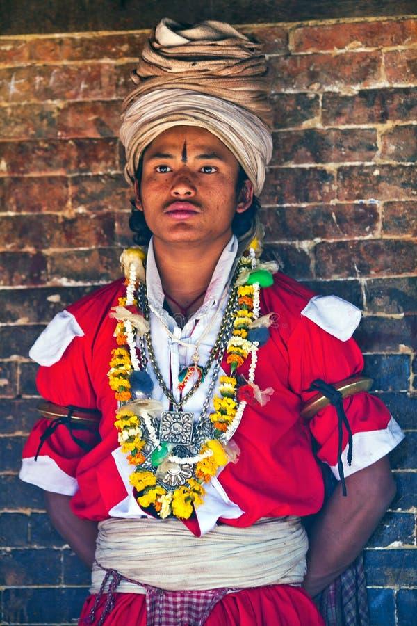 Traditionelle Zeremonie, Nepal lizenzfreie stockfotografie