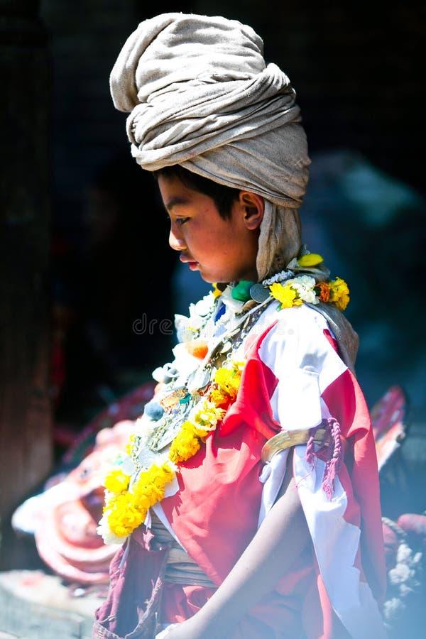 Traditionelle Zeremonie, Nepal stockfotografie