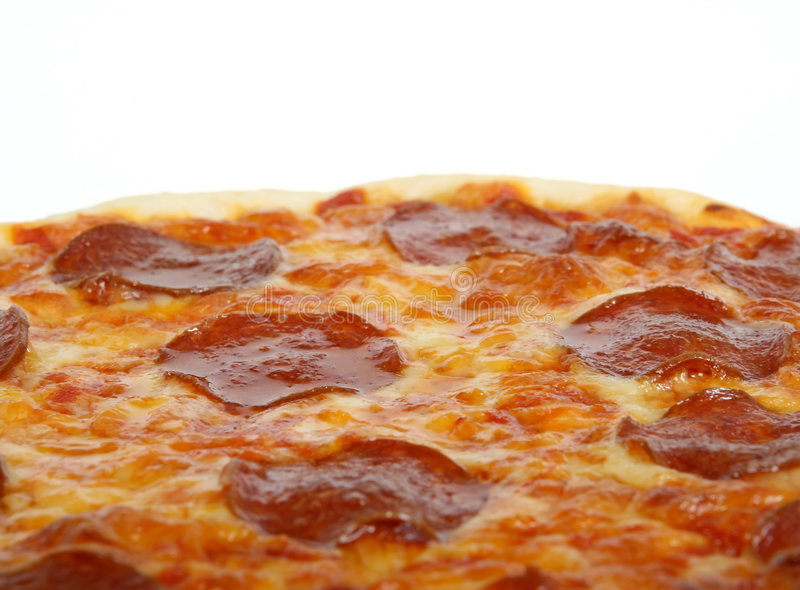 Traditioneller amerikanischer italienischer Käse und Pepperonipizza stockbilder