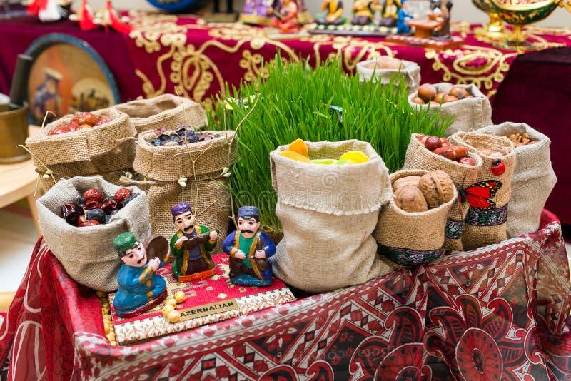 Traditioneller Aserbaidschanerfeiertag der Navruz-Feiertag stockfotografie