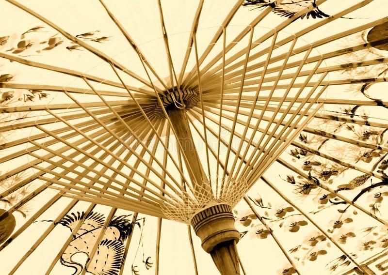 Traditioneller asiatischer Regenschirm stockfoto