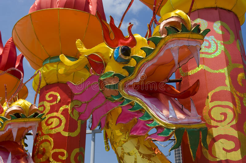 Traditioneller Chinese-Drache-Laterne lizenzfreie stockbilder