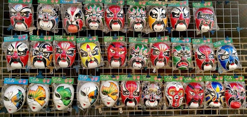 Traditioneller Chinese-Masken stockfoto