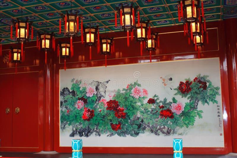 Traditioneller Chinese-Opern-Stadium stockbild