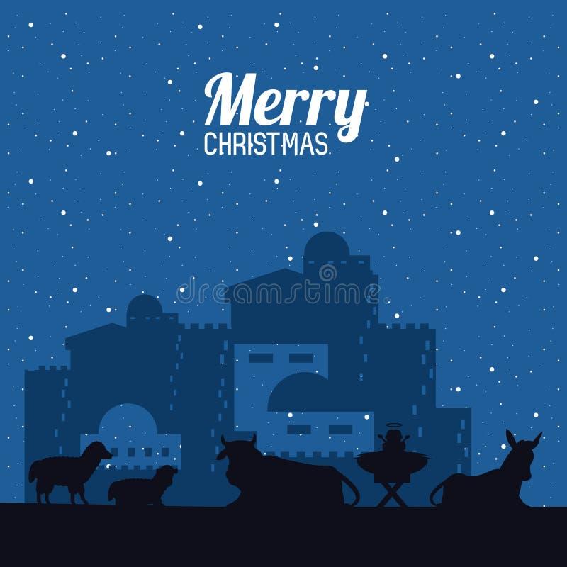 Traditioneller Christian Christmas lizenzfreie abbildung