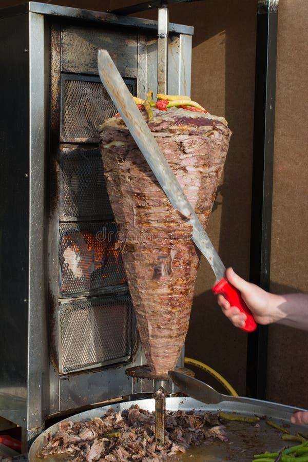 Traditioneller das Türkische Doner-Kebabgrill lizenzfreies stockfoto