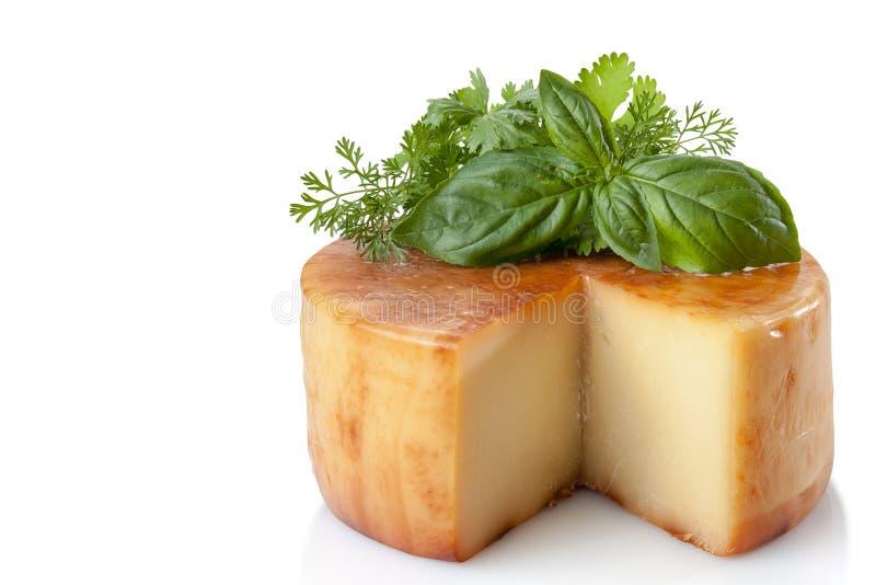 Traditioneller geräucherter Käse stockbild