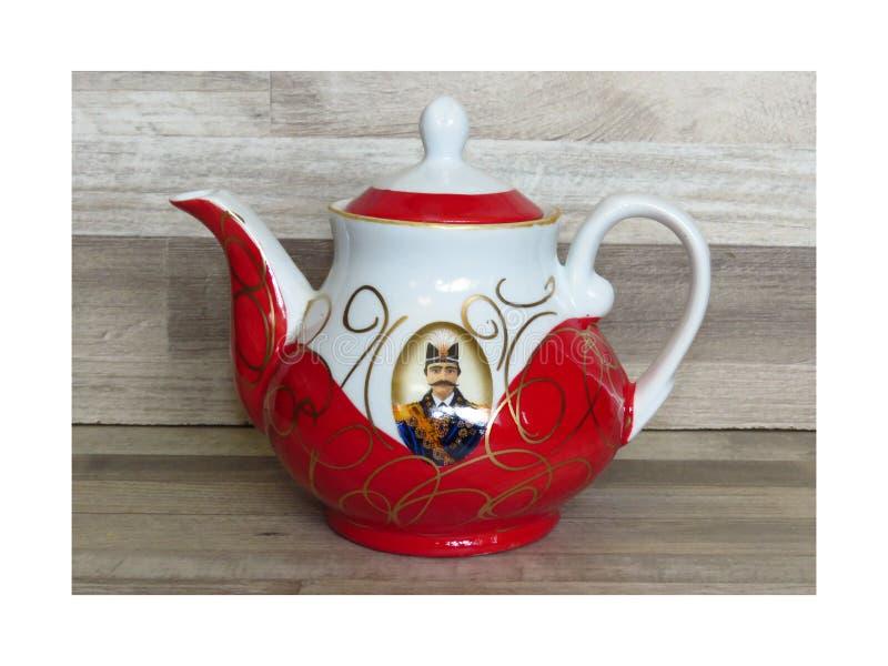 Traditioneller handgemalter persischer iranischer Teetopfschah Abbas lizenzfreie stockbilder