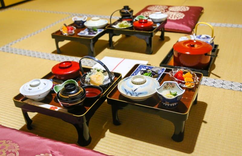 Traditioneller japanischer buddhistischer Mönch Meal lizenzfreies stockfoto