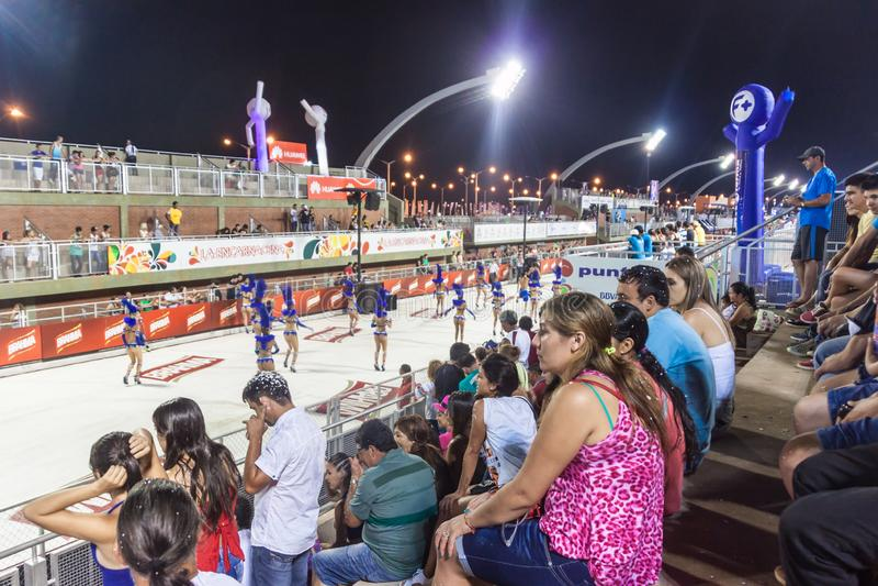 Traditioneller Karneval in Encarnacion, Paraguay stockfoto